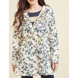 ModCloth butterfly hooded jacket nwot